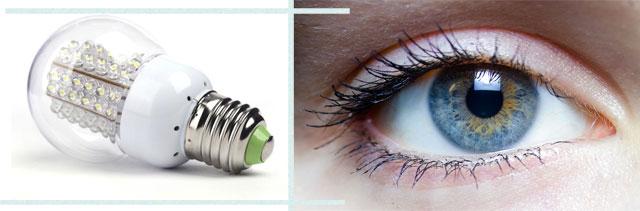 Светодиодные лампы и повреждения глаз